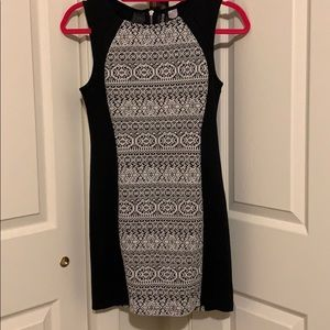 H&M Black and White Party Casual Dress